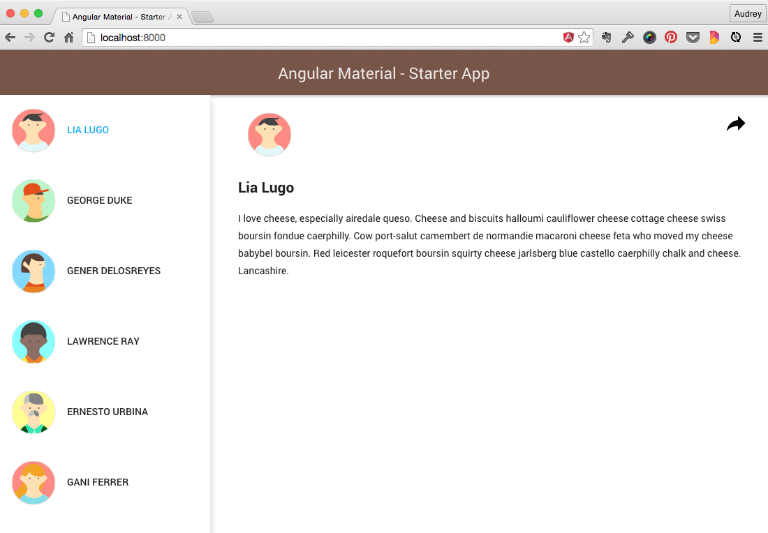 Angular Material Start Project